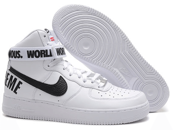 Nike Air Force 1 High Supreme White Black Sneaker